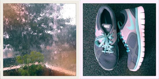 Rainy weather and new shoes