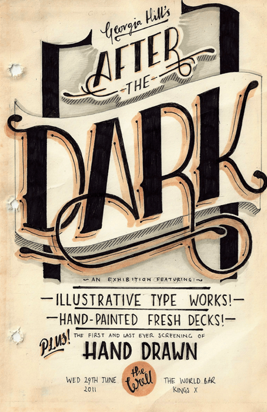 Georgia Hill, freelance typographer, illustrator and graphic designer.