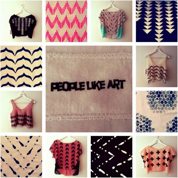 Handmade, handprinted clothing by People Like Art