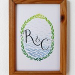 Product Update – Hand Painted Monogram Art Pieces & Hand Drawn Frames and Borders for Sale