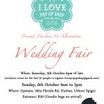 Durban Alternative Wedding Fair by I Love Pop Up Shop