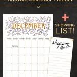 Free December Calendar Planner & Shopping List Printables!
