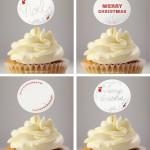 Free Printable Christmas Cupcake Toppers & Gift Tags