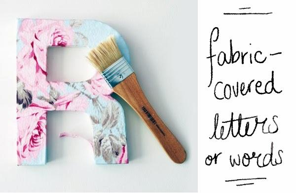 Happiness is... DIY Gifts - Fabric-covered letters and words