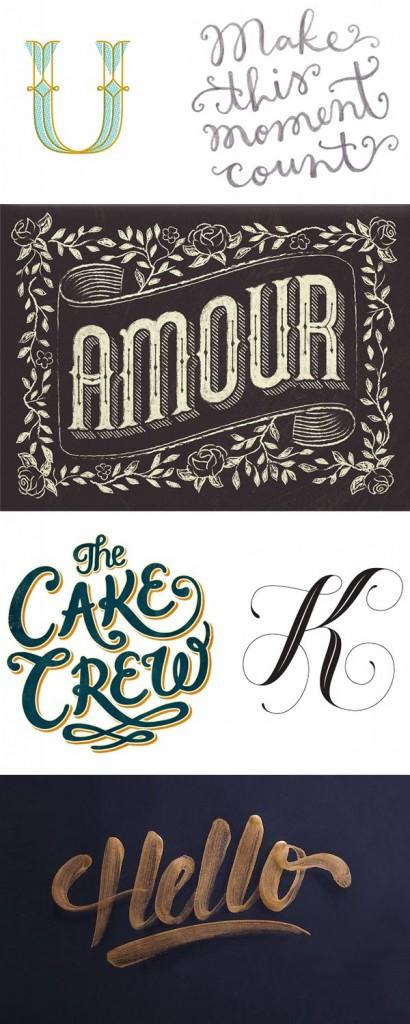 An inspirational roundup of Hand Lettering, Calligraphy and Typography