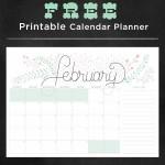 February Free Calendar Planner