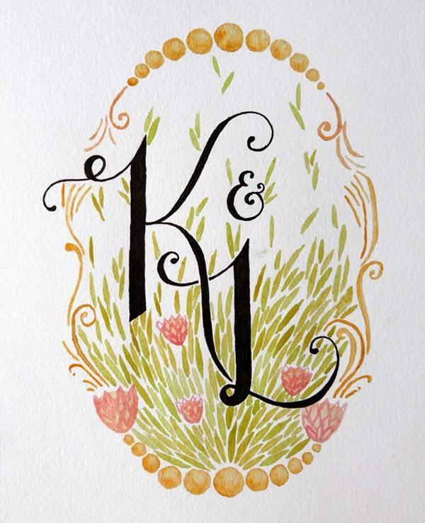 Happiness is... Custom Monogram Illustration - by fathima kathrada, durban
