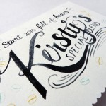 Personalised and Hand Lettered Client Gift Cards