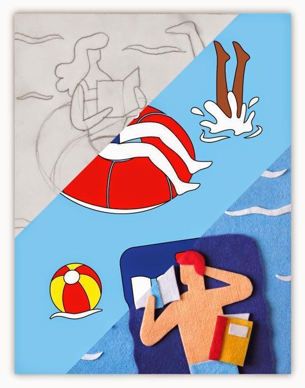 Felt Illustrations by Jacopo Rosati