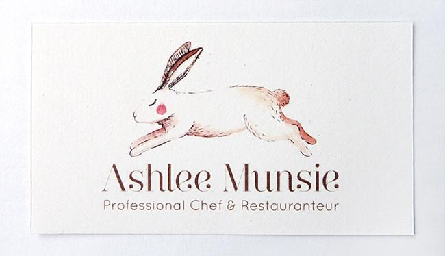Illustrated business cards for Ashlee Munsie