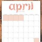 April 2016 free printable calendar planner
