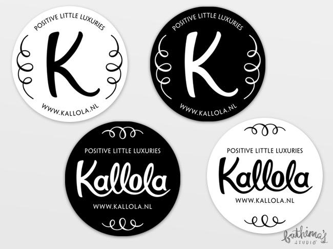 Kallola - Hand Lettered Logo Design - Stickers