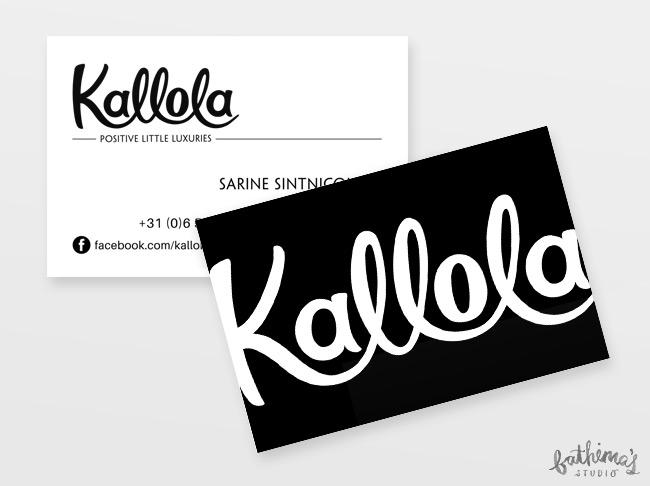 Kallola - Hand Lettered Logo Design - business cards