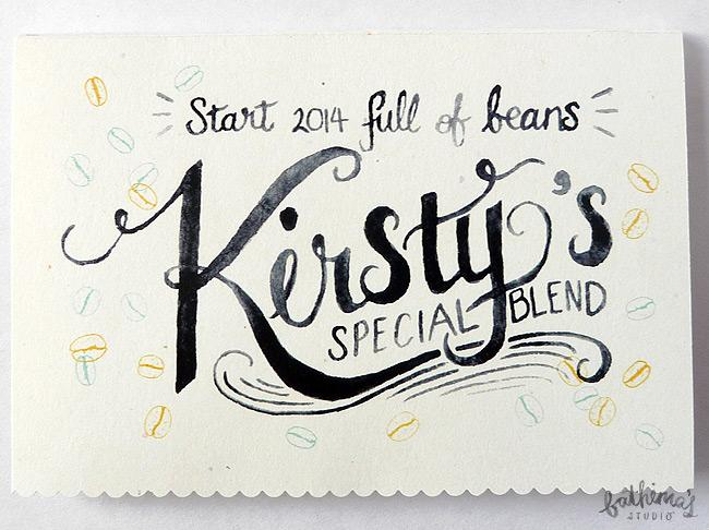Personalised Hand Lettered Client Cards