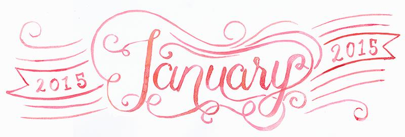 Illustrated and hand lettered calendar headers