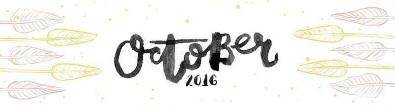 hand lettered and illustrated calendar headers
