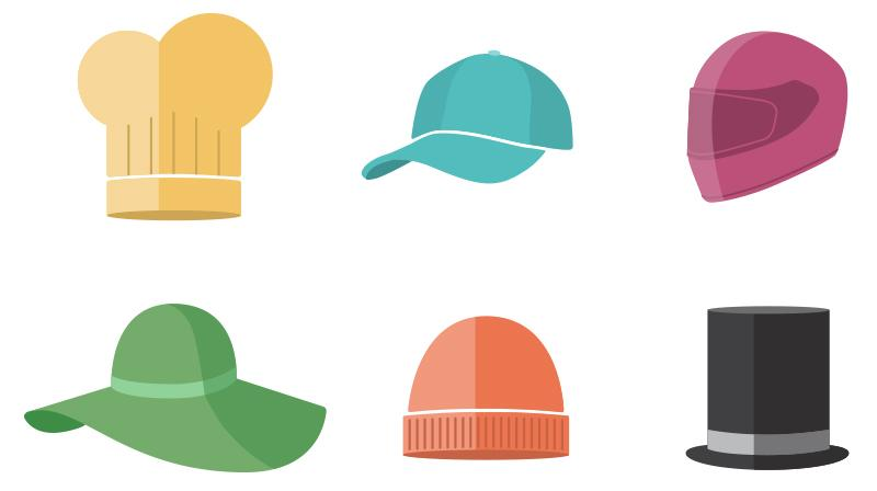 Many Hats vector illustrations