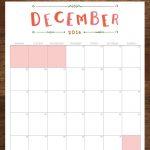 December 2016 Free Printable Calendar Planner