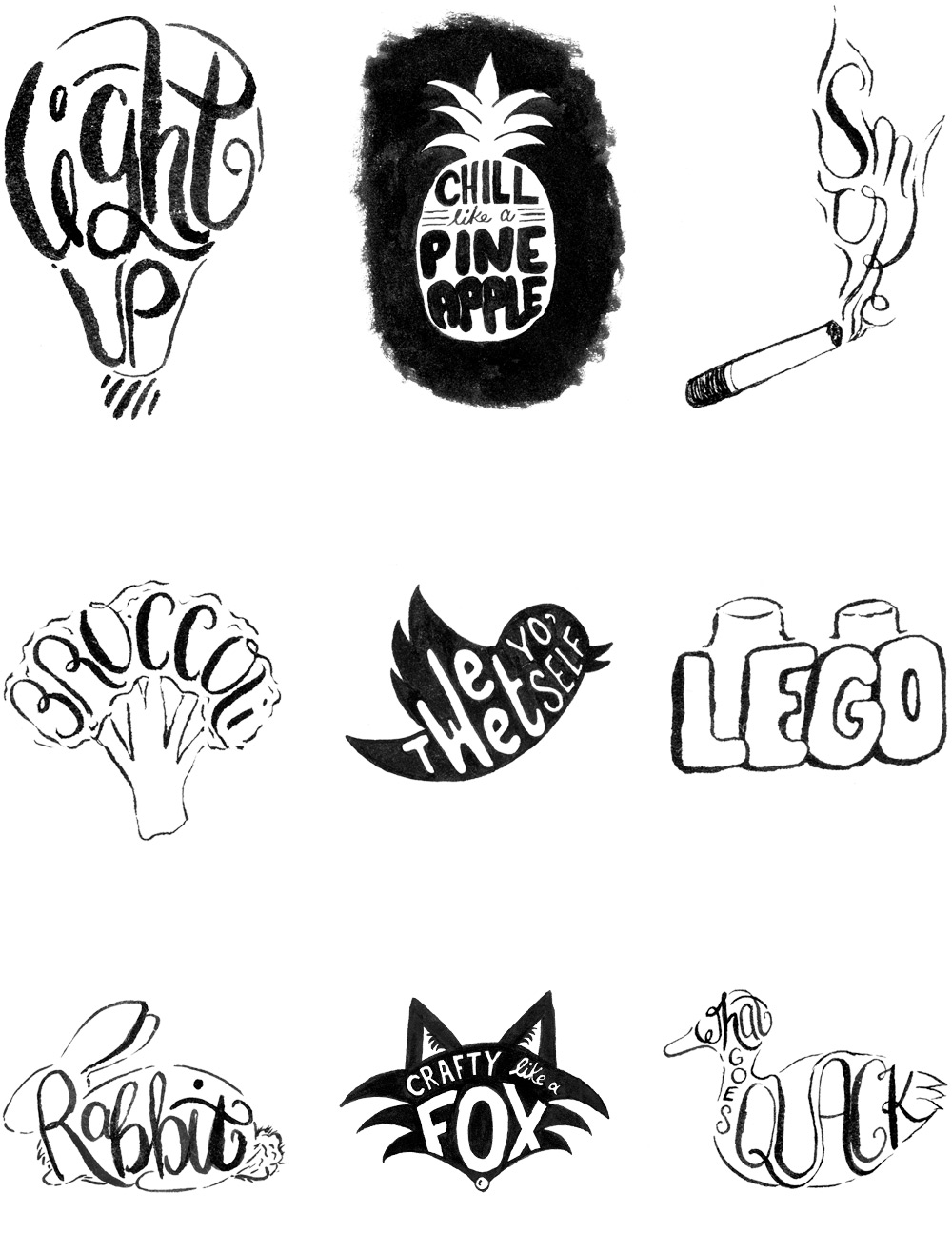 Instagram Lettering Project - Words in Shapes