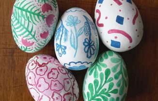 Hand Painted Chocolate Easter Eggs