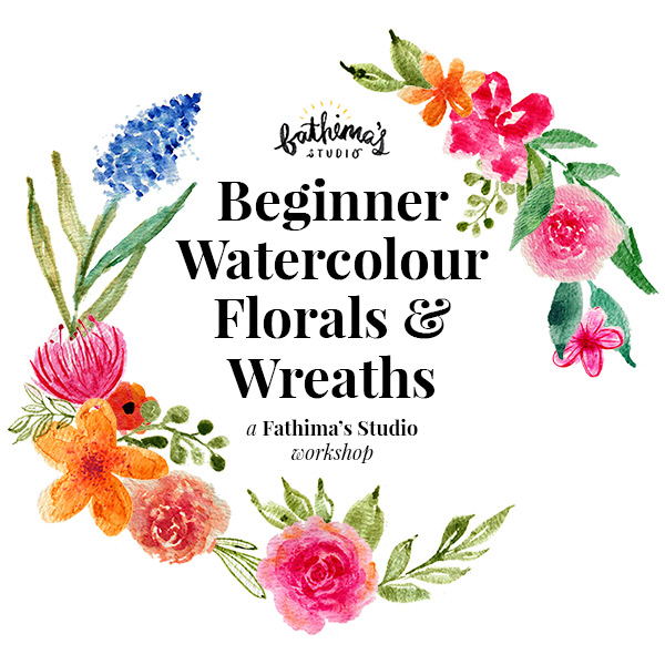 Beginner Watercolour Florals and Wreaths Workshop