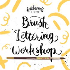 Watercolour Brush Lettering Workshop - 8 February 2020
