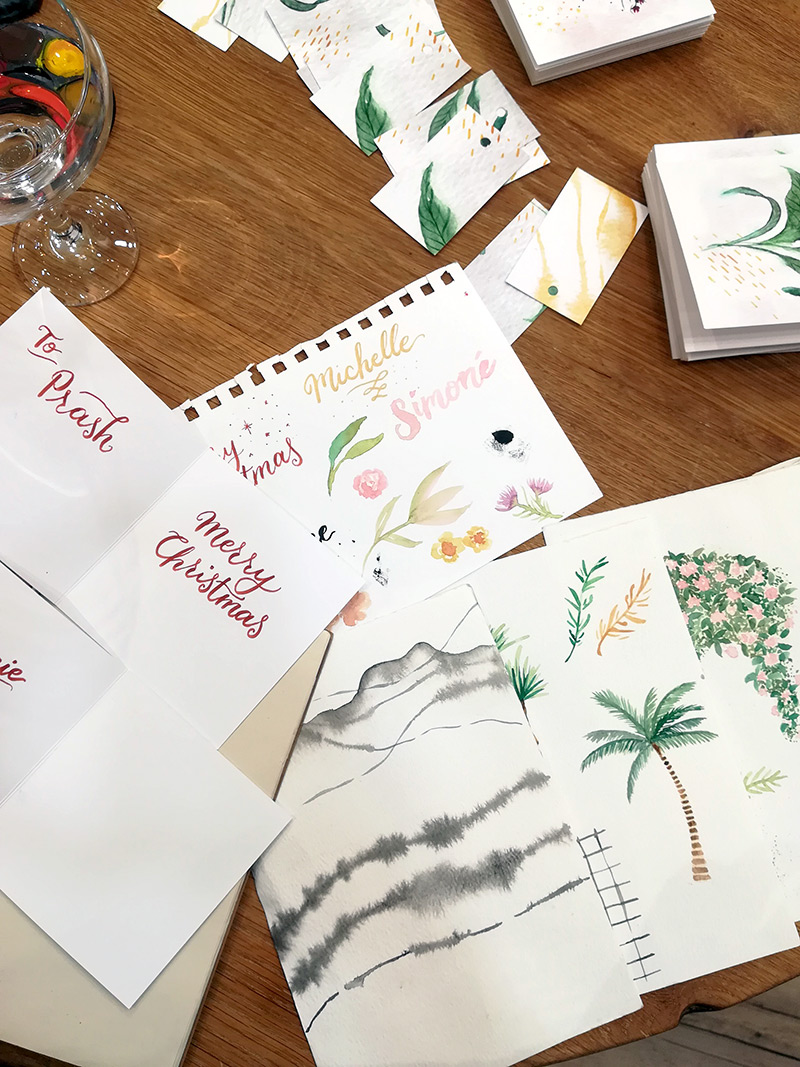 Fathima's Studio - Live Illustration & Lettering for Festive In-store Event